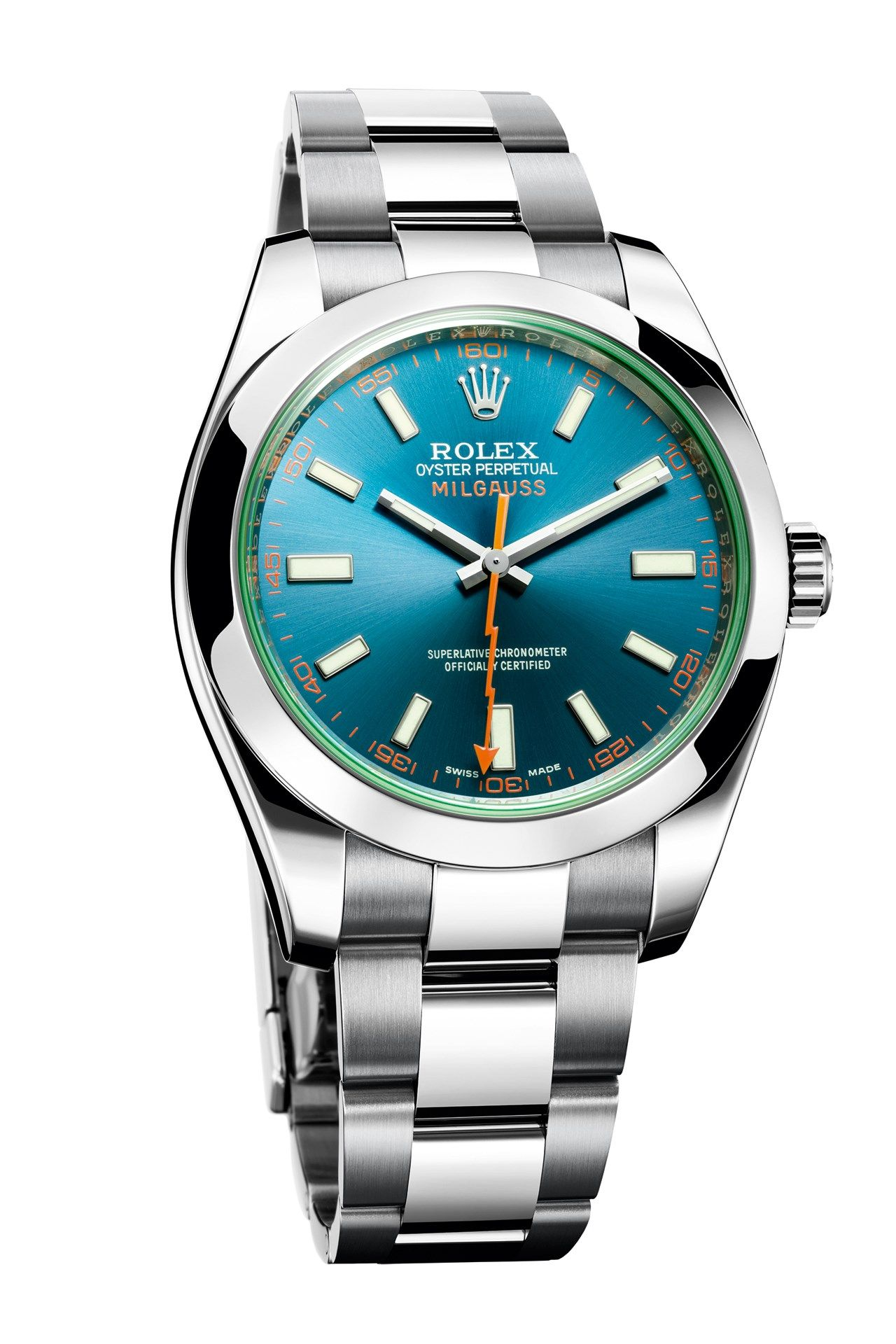 A closer look at the new rolex oyster perpetual milgauss watch british gq for Rolex milgauss